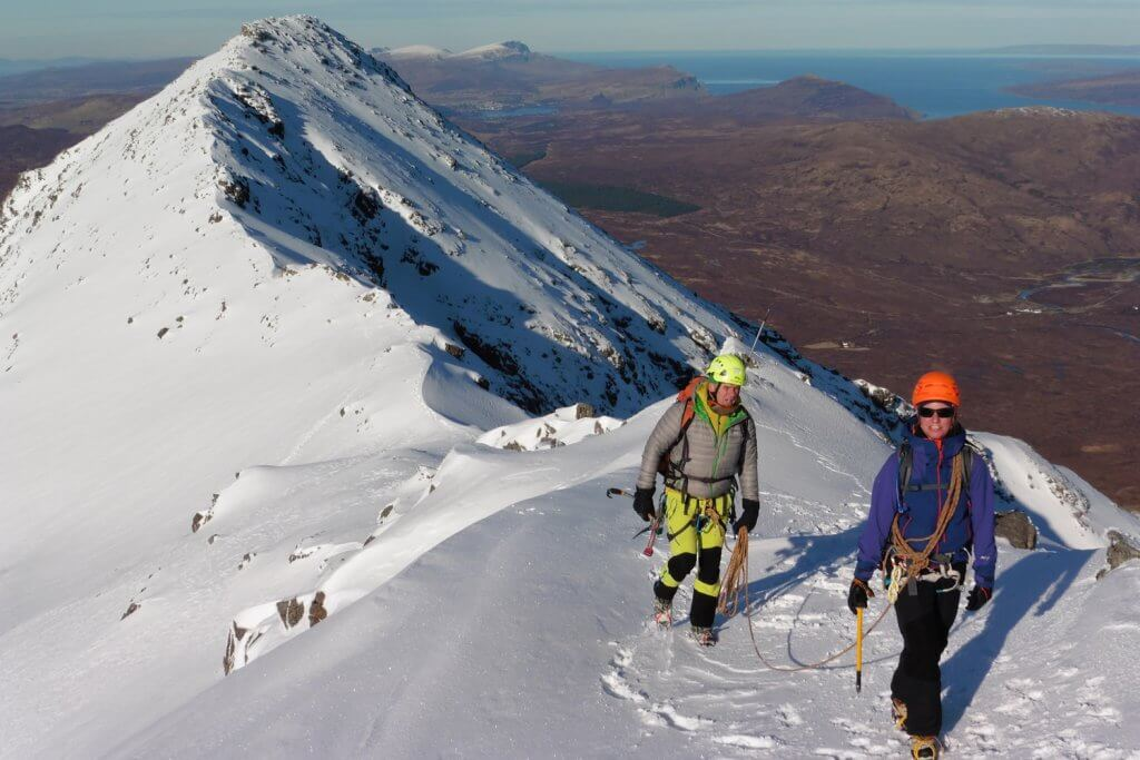 Mountain guide and client, Skye